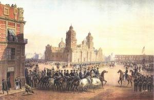 Ejército de los Esos Unios en el Zócalo de México, 1847